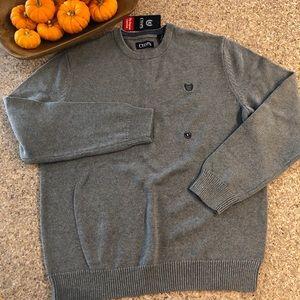 NWT Chaps Men's Gray Crewneck Sweater - Size Large